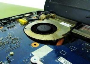 Reinigung Verstaubter MacBook Lüfter