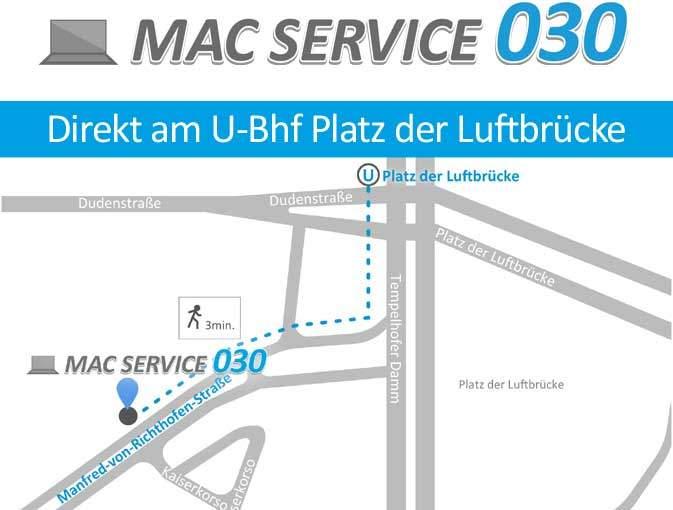Karte zum Standort MacService030